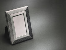Vintage style picture frame, empty. Black and white monochrome. Stock Image