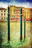 Vintage style picture of the Grand Canal in Venice Royalty Free Stock Image
