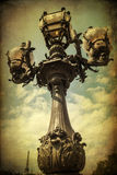 Vintage style picture of an old street lamp in Paris, France Royalty Free Stock Images