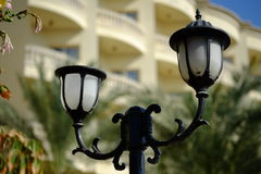 Vintage style picture with old street lamp in the park Stock Photography