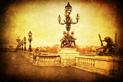 Vintage style picture of Paris Royalty Free Stock Image