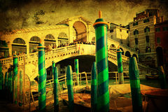 Vintage style picture of the rialto bridge Royalty Free Stock Image