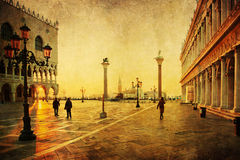 Vintage style picture of the Saint Marks Square Royalty Free Stock Photo