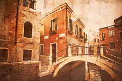 Vintage style picture of Venice Stock Photography
