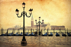 Vintage style picture of Venice Royalty Free Stock Image
