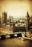Vintage style picture of Westminster, London Stock Images