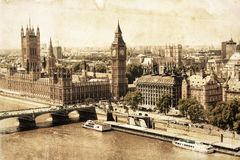 Vintage style picture of Westminster, London Stock Photo