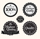 Vintage Style Premium Quality Labels Royalty Free Stock Photo