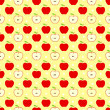 Vintage style red apples pattern royalty free stock image