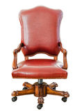 Vintage Style Red Leather Chair Stock Photo