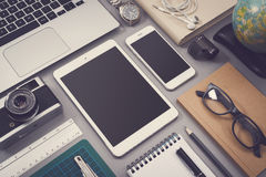 Vintage style responsive webdesign mockup Royalty Free Stock Photography