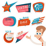 Vintage Style Retro Badges and Emblems Stock Photography