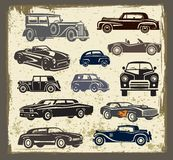 Vintage style retro cars Stock Photos