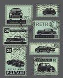 Vintage style retro cars Royalty Free Stock Image
