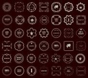 Vintage style retro emblem label collection. Design elements. Stock Photography