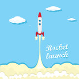 Vintage style retro poster of Rocket launcher. Royalty Free Stock Photo