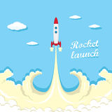Vintage style retro poster of Rocket launcher. Royalty Free Stock Photos