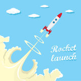 Vintage style retro poster of Rocket launcher. Stock Photography