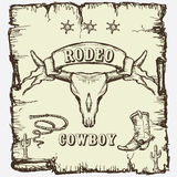Vintage style Rodeo Royalty Free Stock Photo