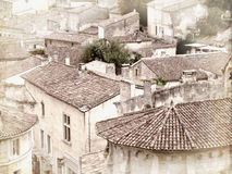 Vintage Style Rooftops in France. Vintage style rooftops in the South of France Royalty Free Stock Image