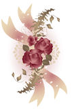 Vintage Style Rose Swag Royalty Free Stock Image