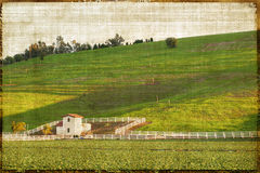 Vintage Style Rural Landscape Royalty Free Stock Photos