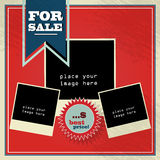 Vintage style sale background illustration with co Royalty Free Stock Photos