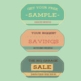 Vintage style sale labels Royalty Free Stock Image