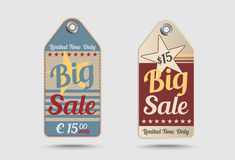 Vintage style sale tag Big sale Royalty Free Stock Photos