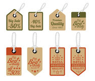 Vintage Style Sale Tags Design Stock Photos