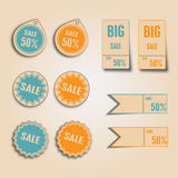 Vintage Style Sale Tags Design. Vector illustration Royalty Free Stock Photography
