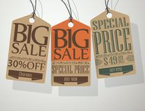 Vintage Style Sale Tags Royalty Free Stock Images