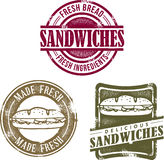 Vintage Style Sandwich Graphics Royalty Free Stock Image