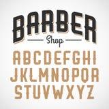 Vintage style sans serif font Stock Photo