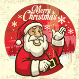 Vintage style of santa claus Stock Image