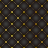 Vintage style seamless vector wallpaper pattern Stock Photos