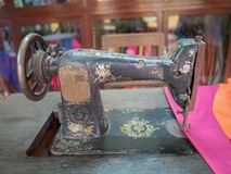 Vintage Style sewing machine royalty free stock image
