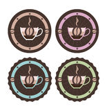Vintage style simple vector coffee icons Royalty Free Stock Image