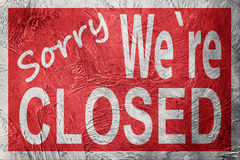 Vintage style Sorry We`re Closed sign. Royalty Free Stock Photos