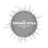 Vintage style star burst, retro element for your Royalty Free Stock Image