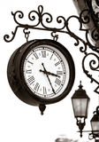 Vintage style street clock view Royalty Free Stock Photography