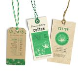 Vintage Style Tags. With hand drawn cotton plant. Vector illustration Royalty Free Stock Photos