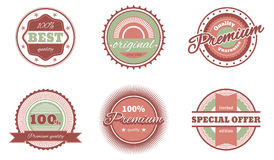 Vintage style tags Royalty Free Stock Photography