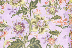 Vintage style of tapestry flowers fabric pattern Stock Photos