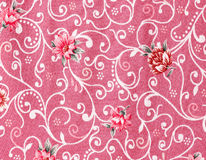 Vintage style of tapestry flowers fabric pattern Stock Images