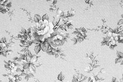Vintage style of tapestry flowers fabric pattern Royalty Free Stock Photo