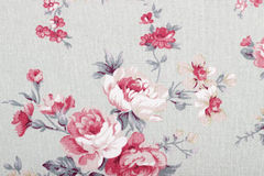 Vintage style of tapestry flowers fabric pattern Stock Photography