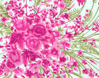 Vintage style of tapestry flowers fabric pattern background Stock Photography
