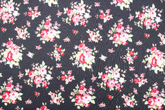 Vintage style of tapestry flowers fabric pattern background Royalty Free Stock Photos