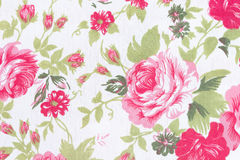Vintage style of tapestry flowers fabric pattern background Royalty Free Stock Photography